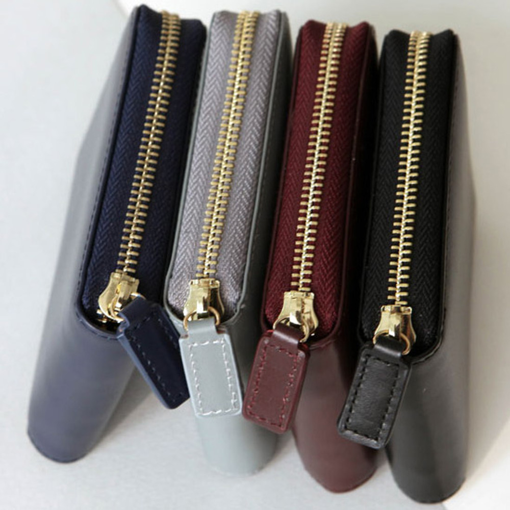 With Alice Think about w Genuine Leather zip around wallet