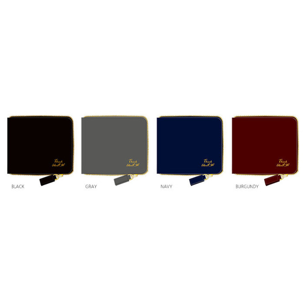 Color of Think about w Genuine Leather zip around wallet