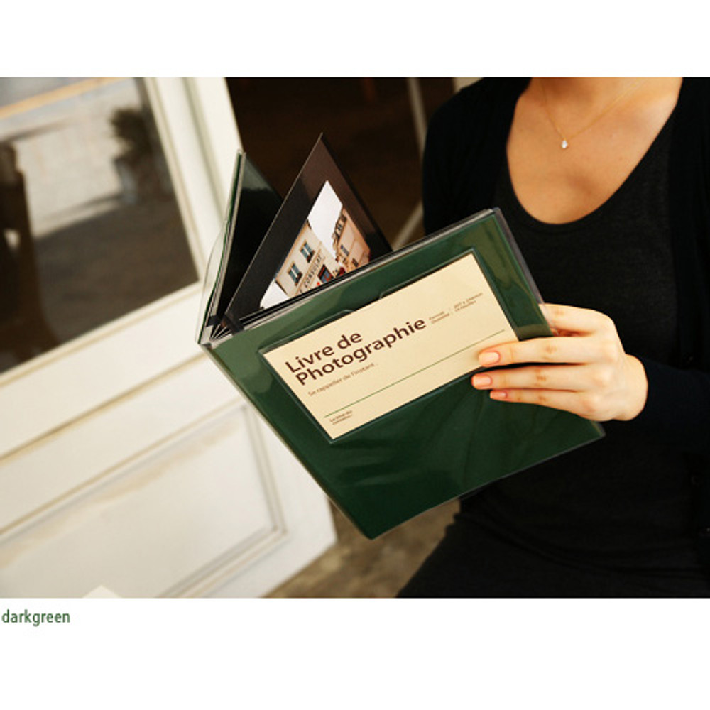 Dark green - Livre de self adhesive black photo album