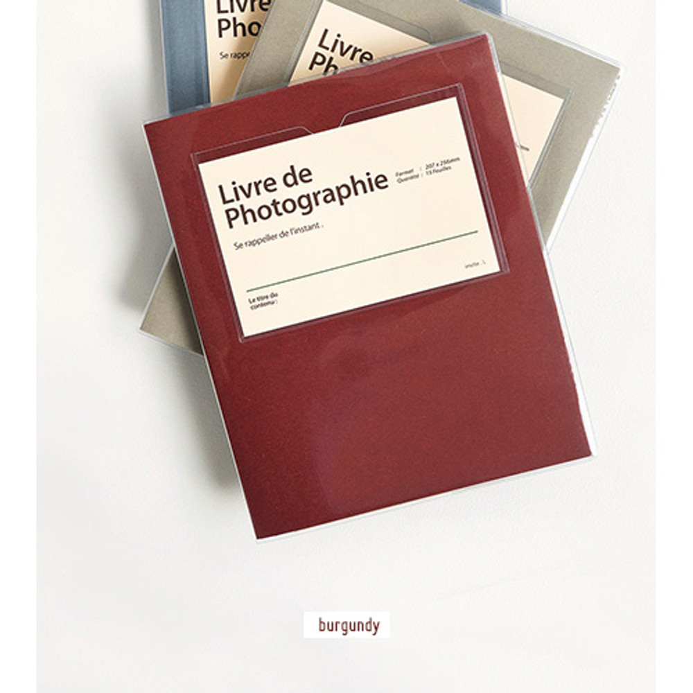 Burgundy - Livre de self adhesive black photo album