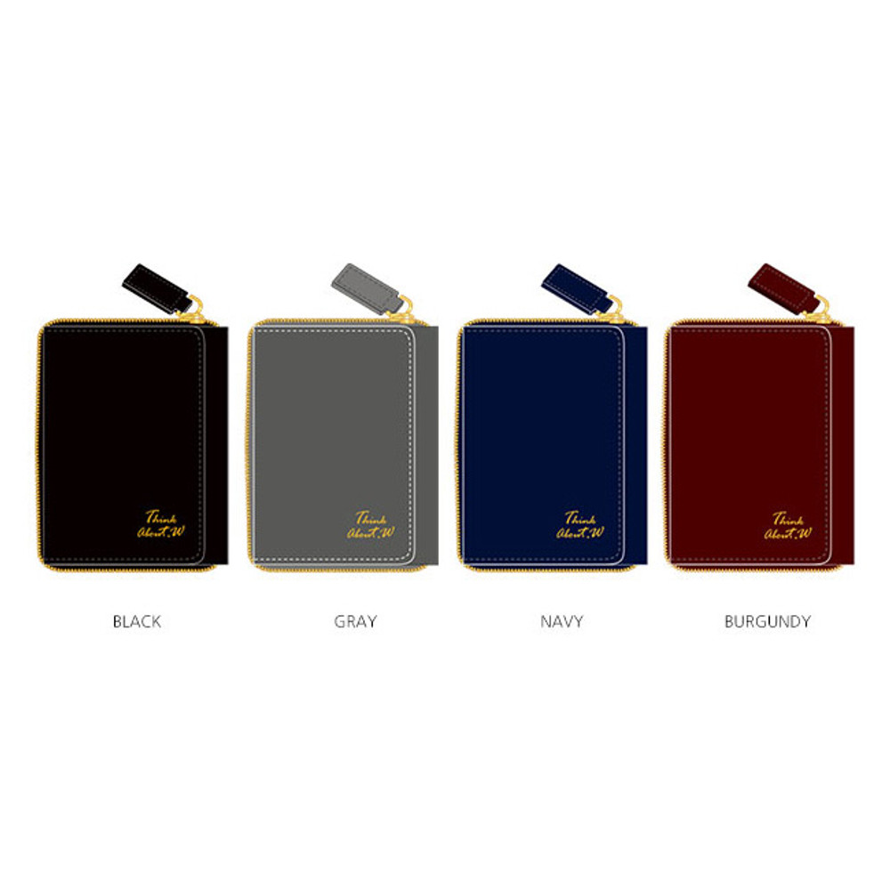 Colors of Think about w genuine leather mini zip around wallet