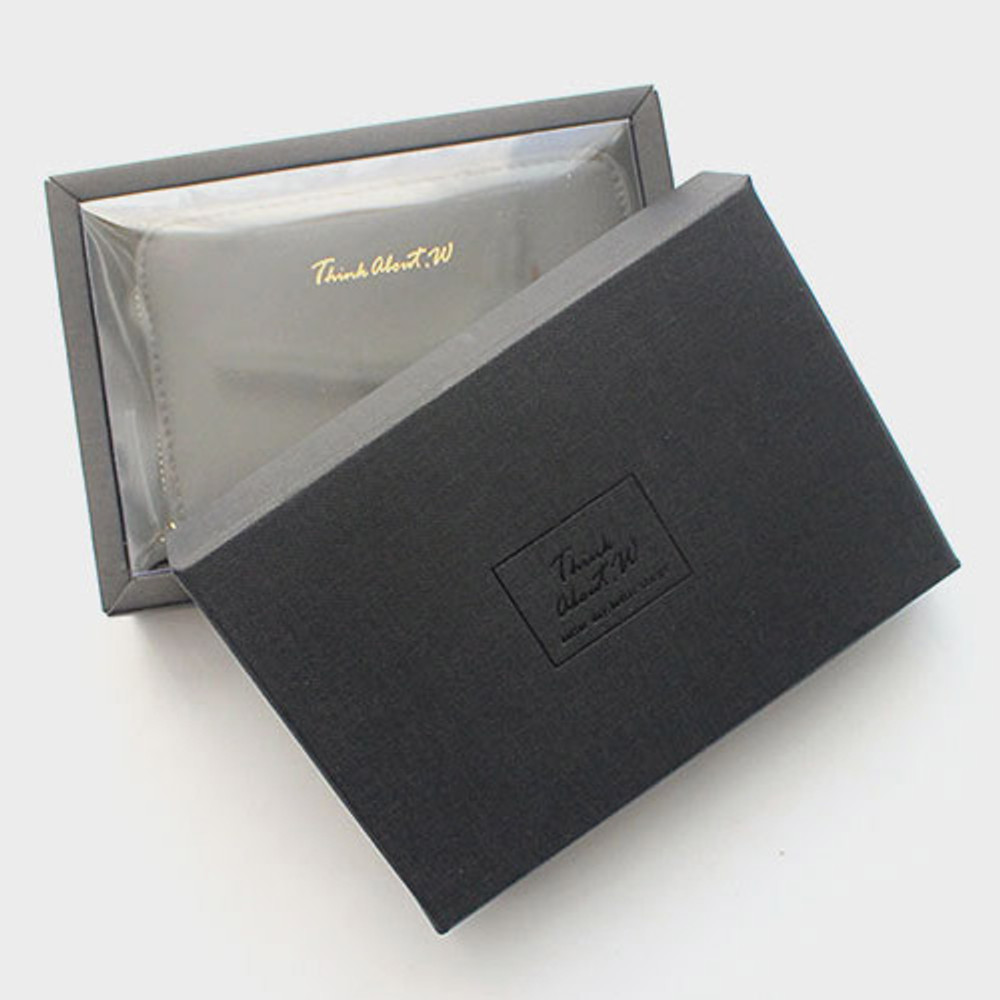Package - Think about w genuine leather accordion card wallet