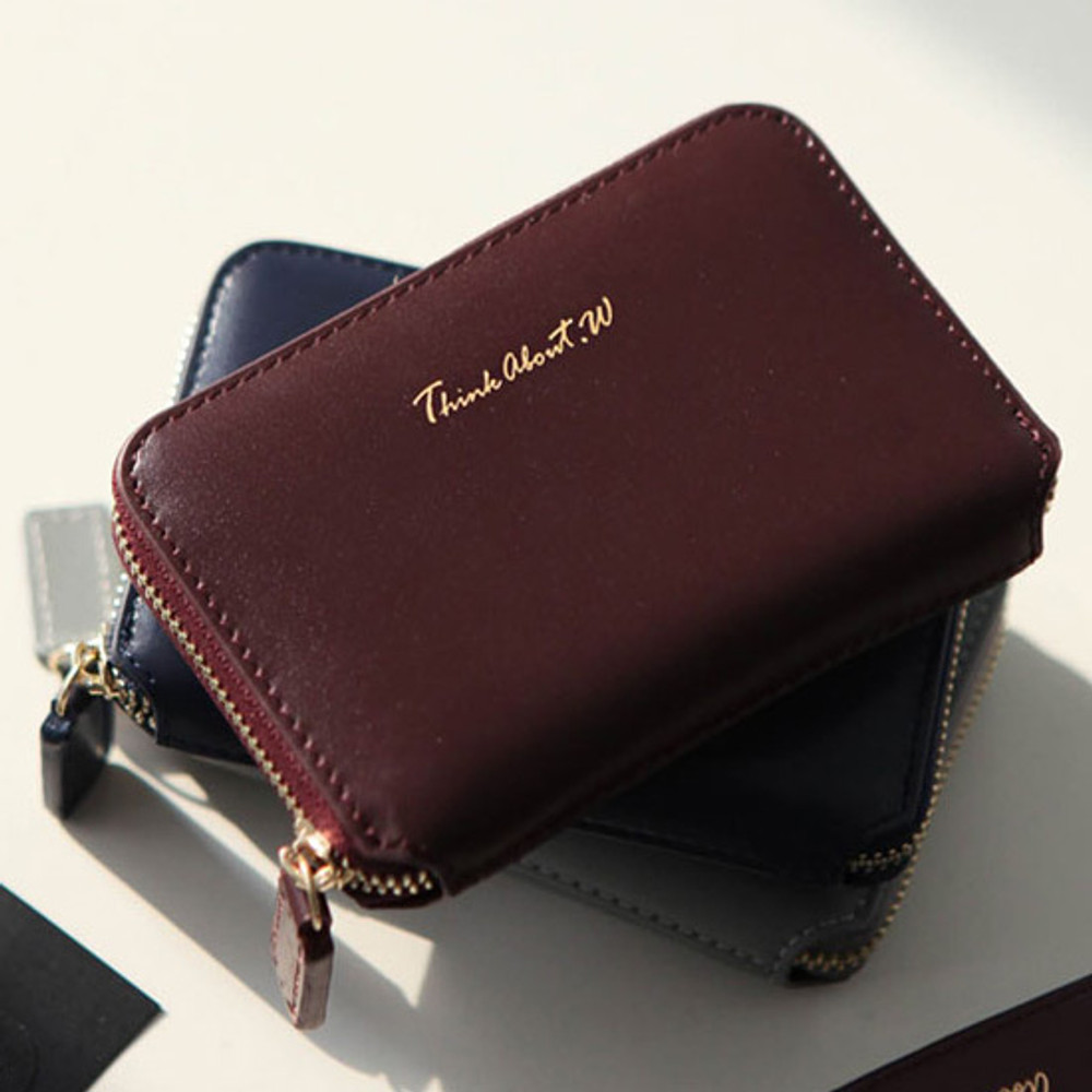 Think about w genuine leather accordion card wallet