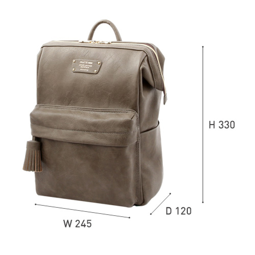 Size of Monopoly Cratte mini leather backpack