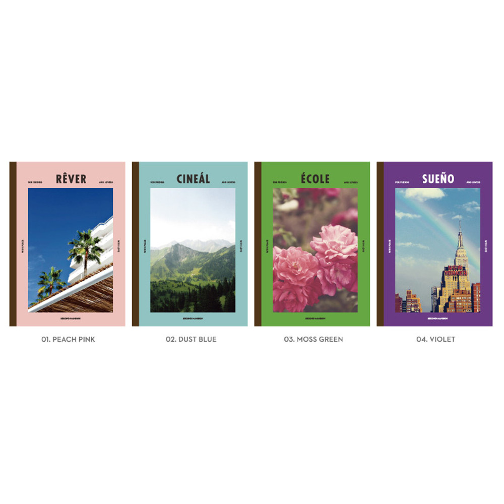 Option of Colorful A5 size grid-lined class notebook