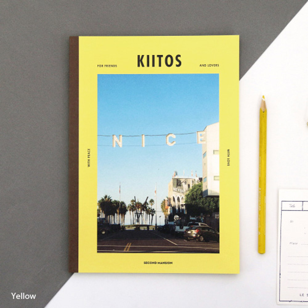 Yellow - Colorful B5 size grid-lined class notebook