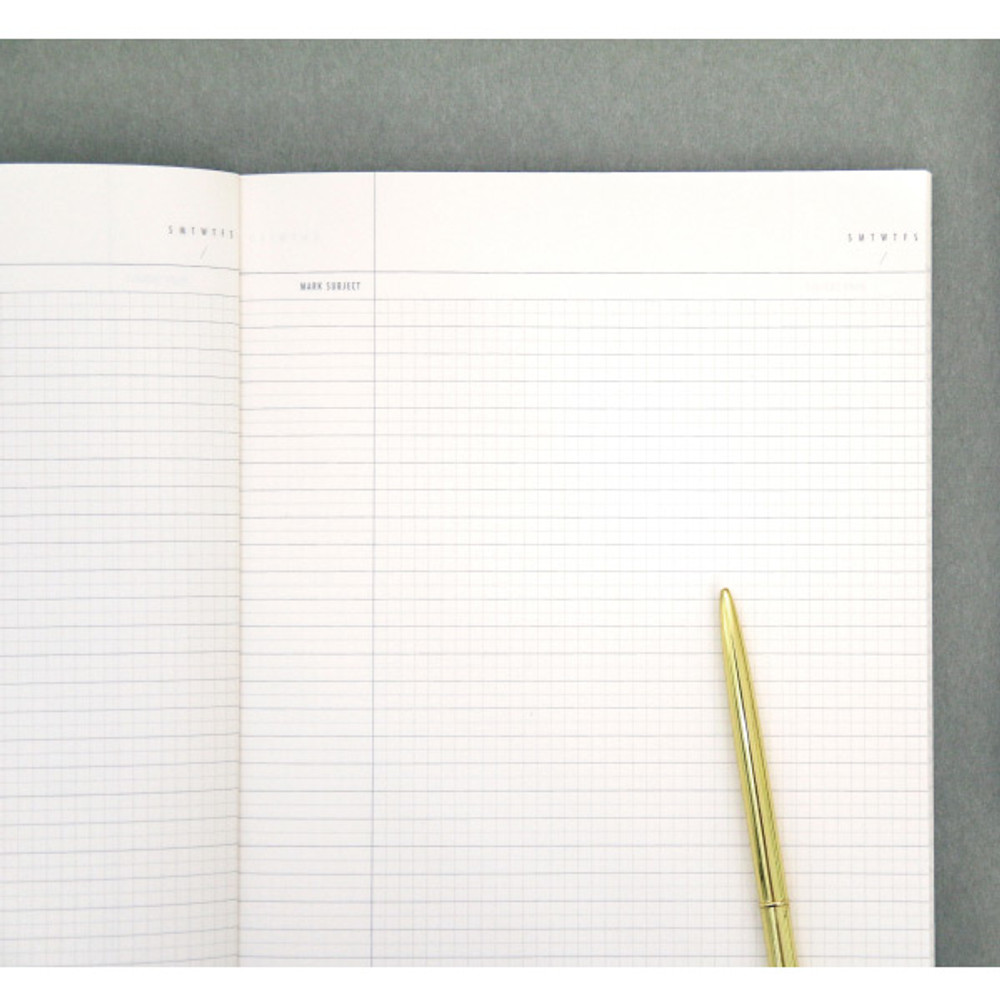 Colorful B5 size grid-lined class notebook