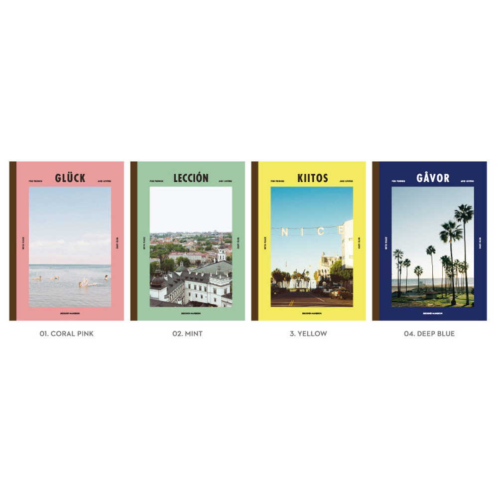 Option of Colorful B5 size grid-lined class notebook