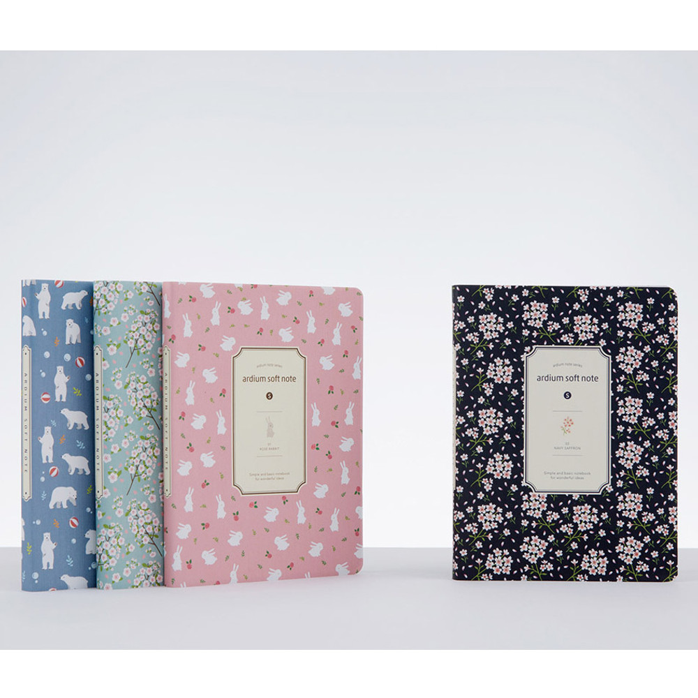 Colorful pattern small soft lined notebook