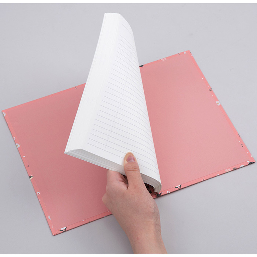 Wirebound spring lined large notebook