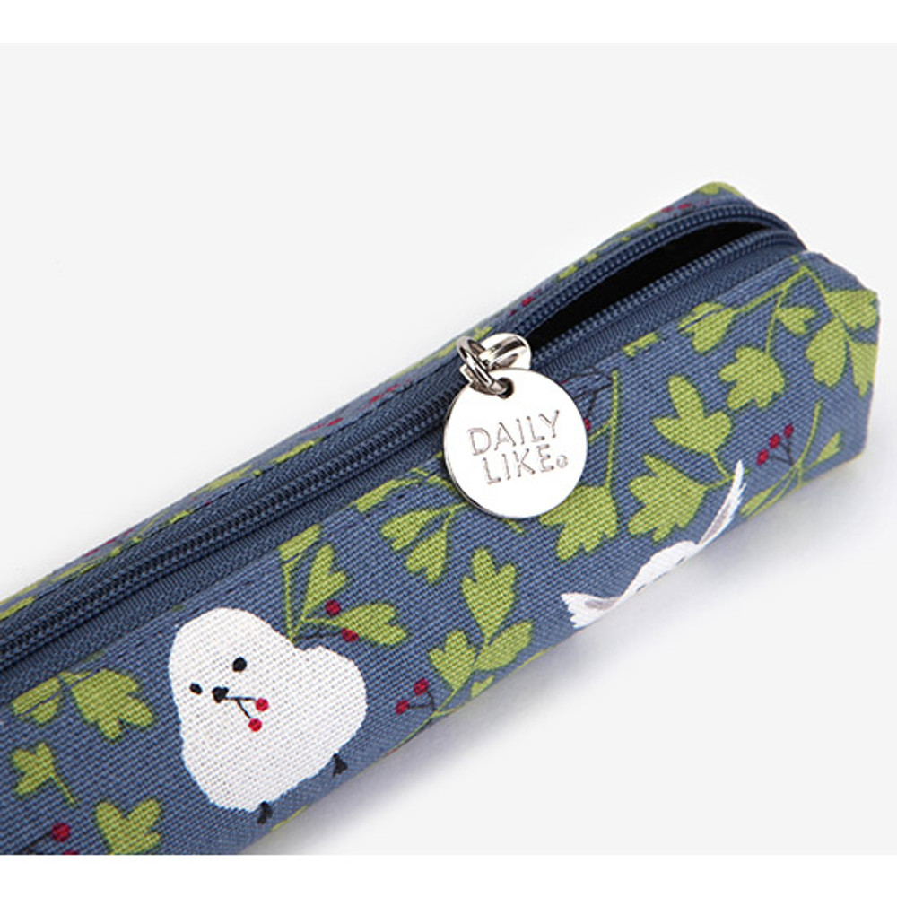 Long tailed tit - For your heart slim zipper pencil case