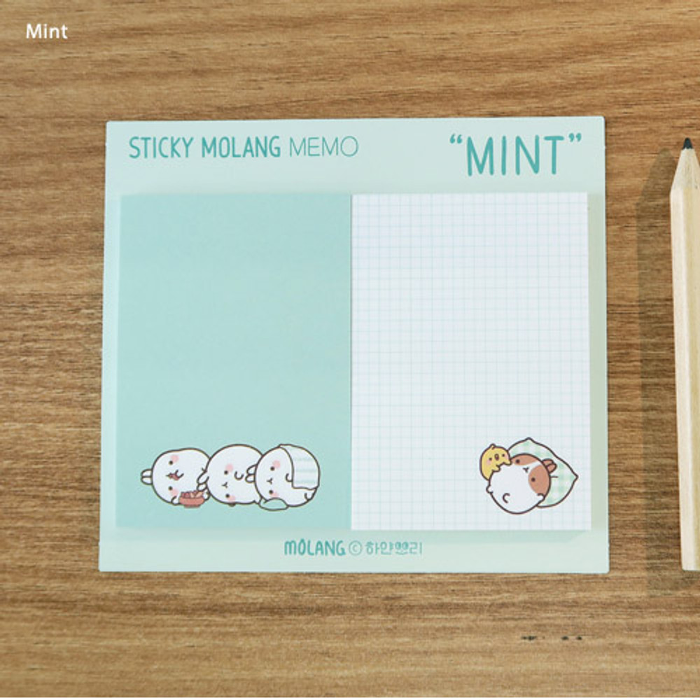 Mint - Molang nemo cute sticky memo note