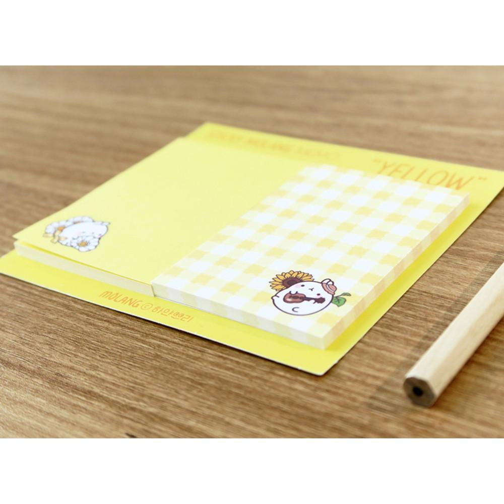Yellow - Molang nemo cute sticky memo note