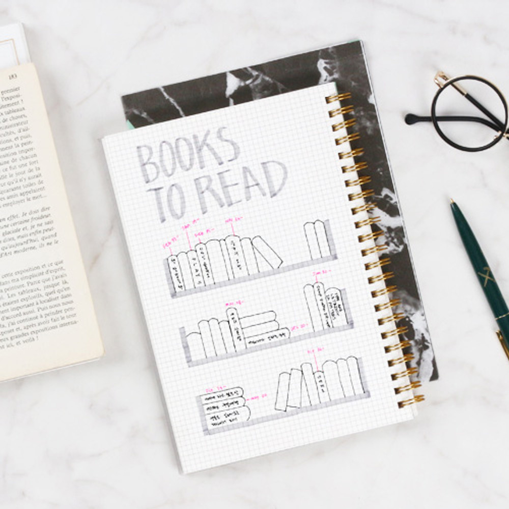 Grid - The classic gold spiral notebook