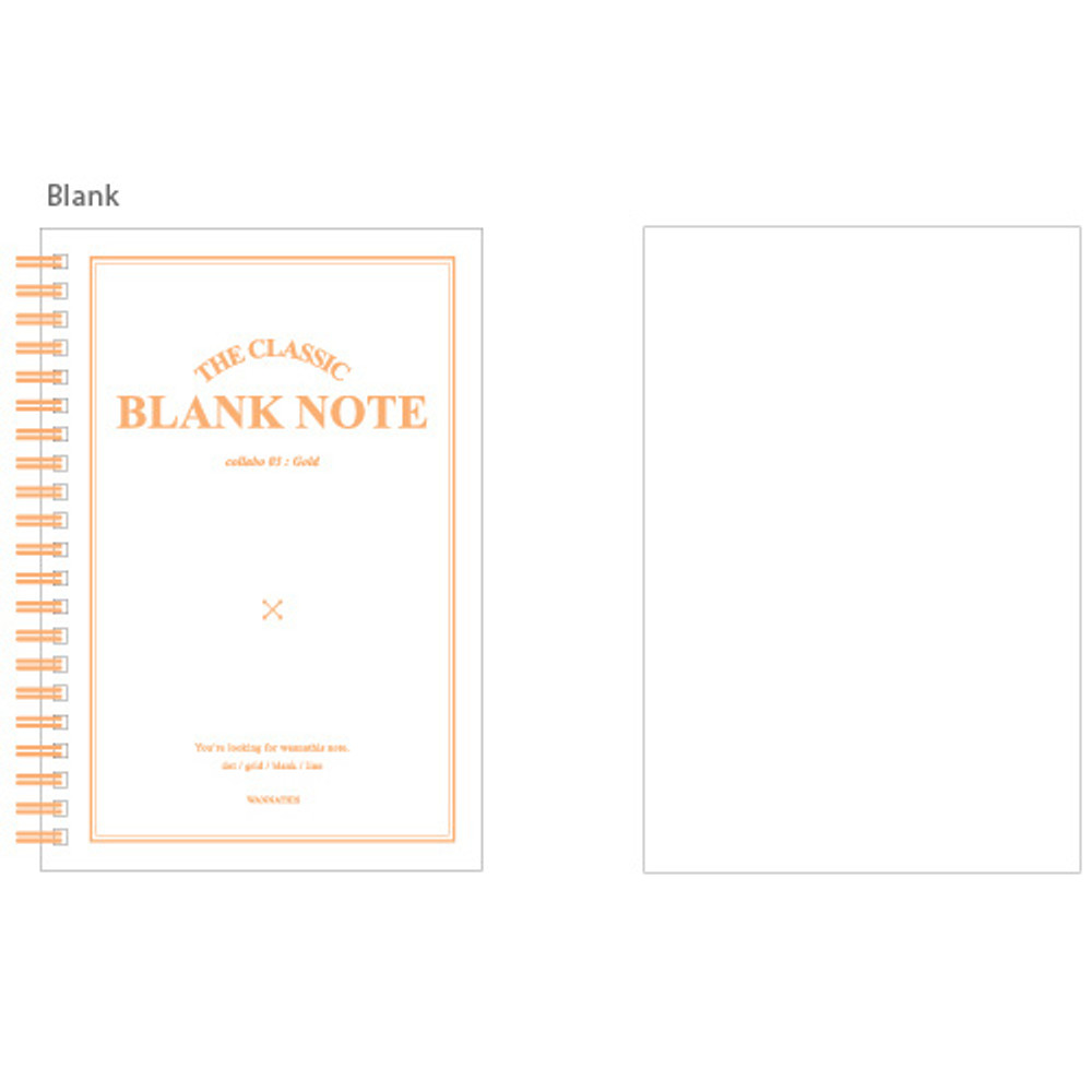 Blank - The classic gold spiral notebook