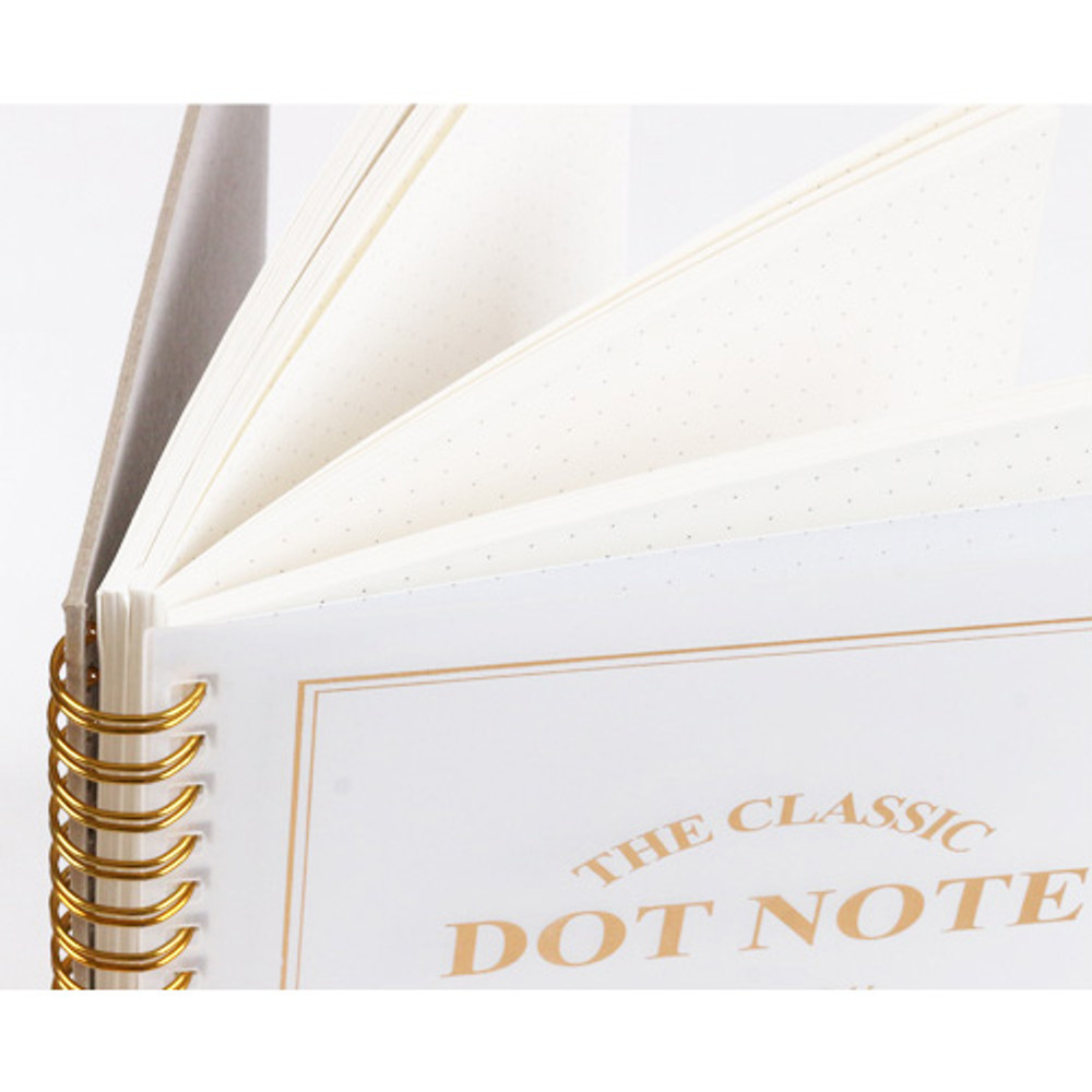 The classic spiral gold notebook