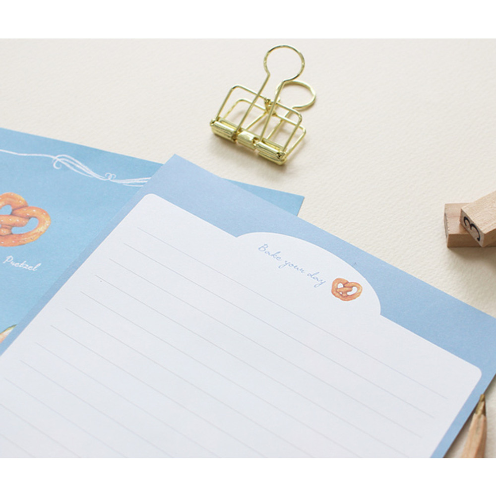 Bakery - Pattern illustration letter paper and envelope set