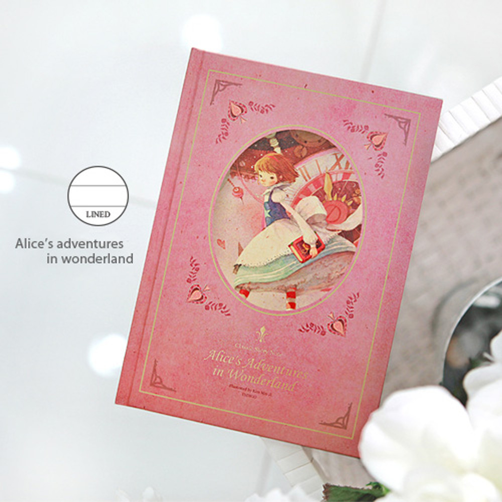 Lined note - Alice's adventures in wonderland