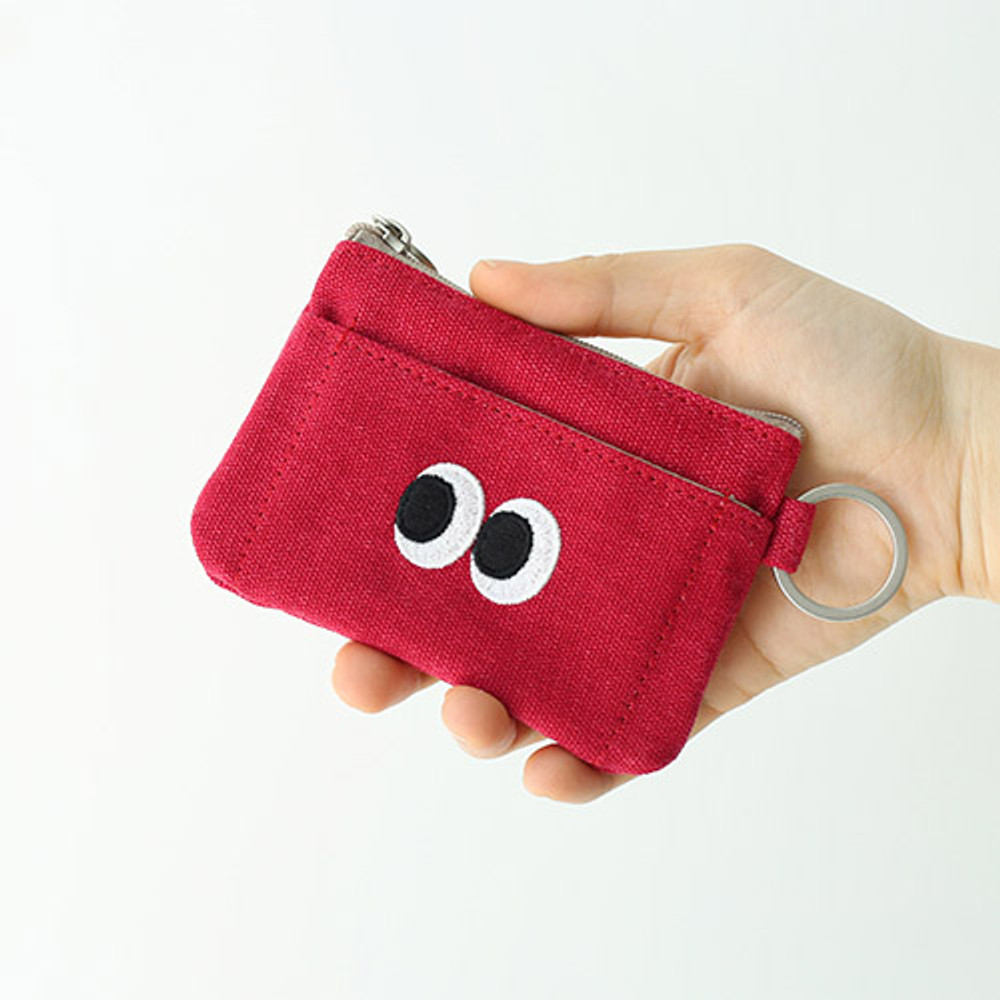 Berry berry - Som Som stitching card case with key ring