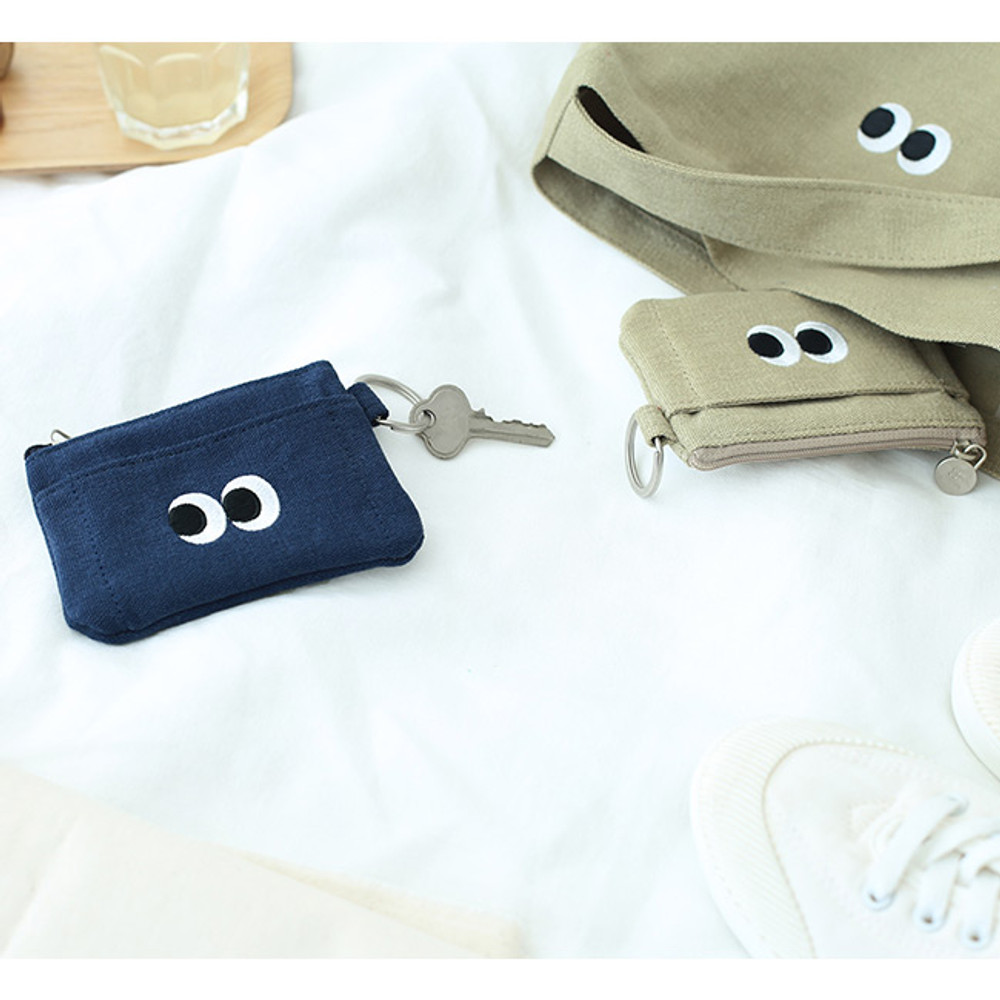 Som Som stitching card case with key ring