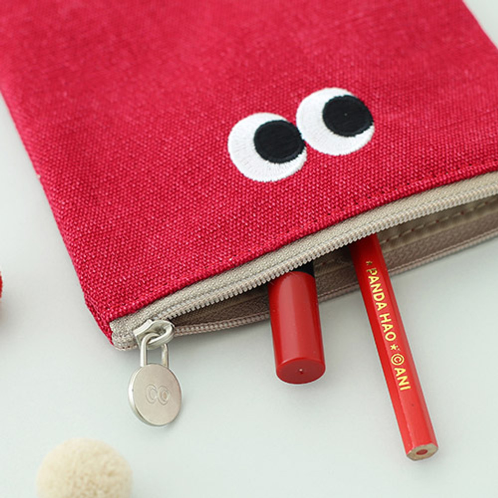 Berry berry - Som Som stitching small zipper pouch