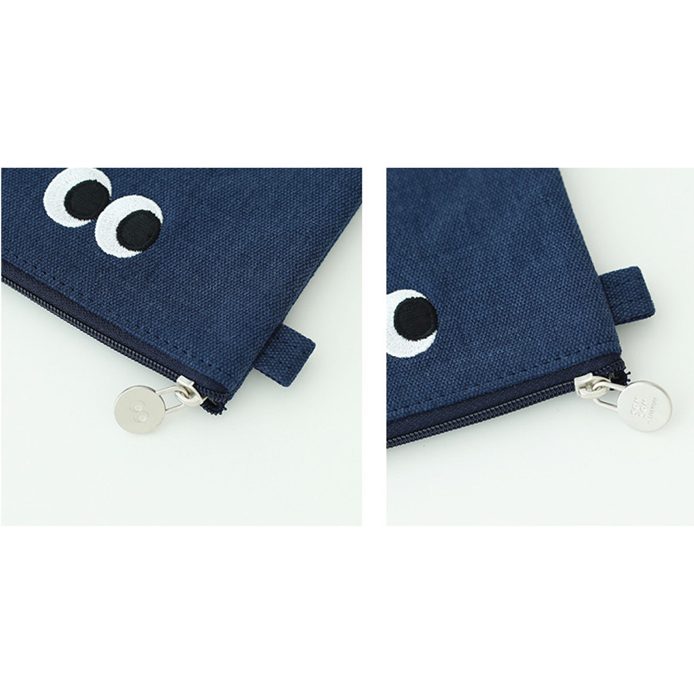 Som Som stitching small zipper pouch
