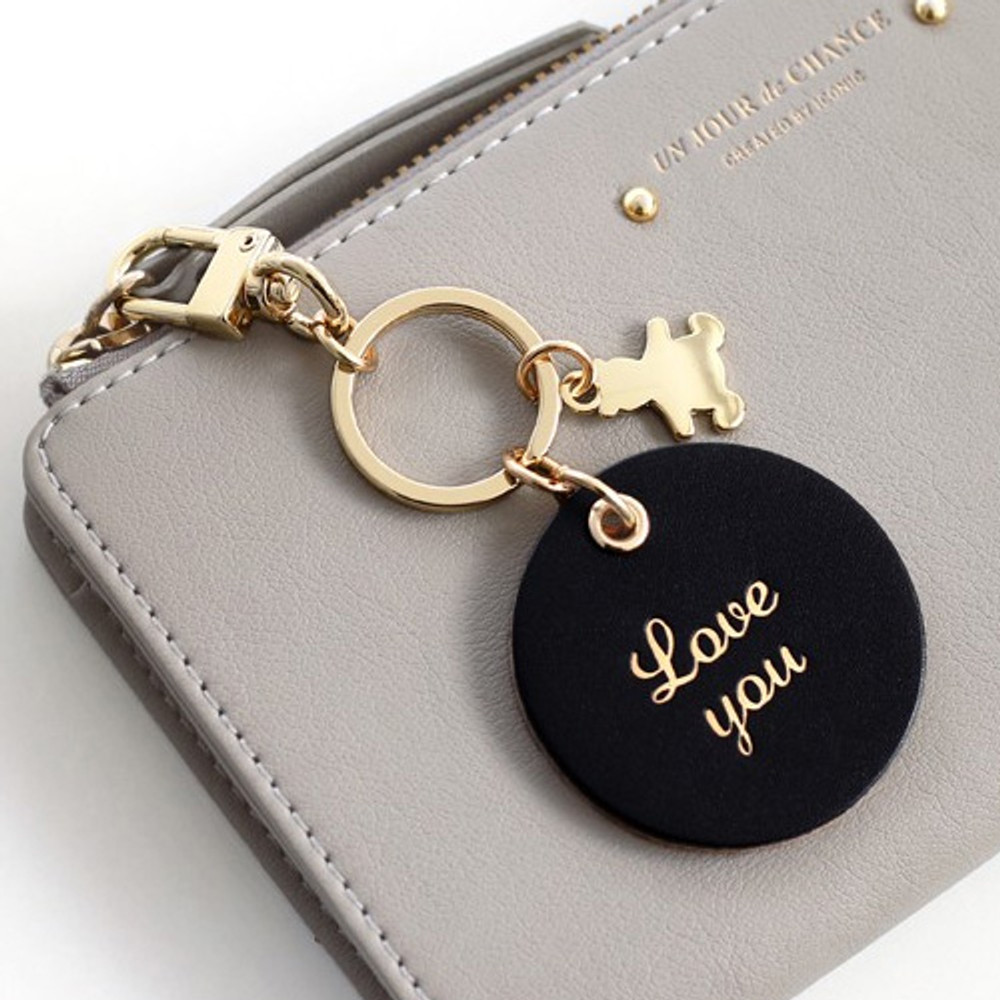 Love you - Humming leather key chain key ring