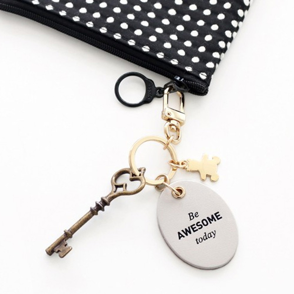 Awesome - Humming leather key chain key ring