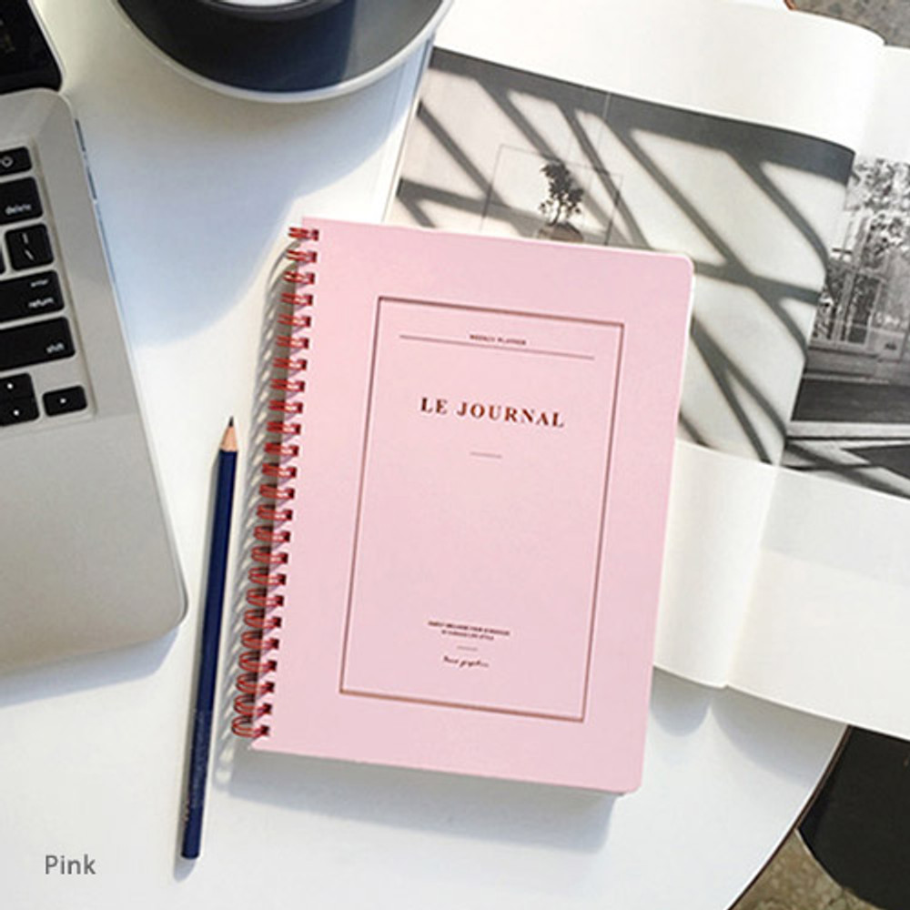 Pink - Le journal undated weekly planner