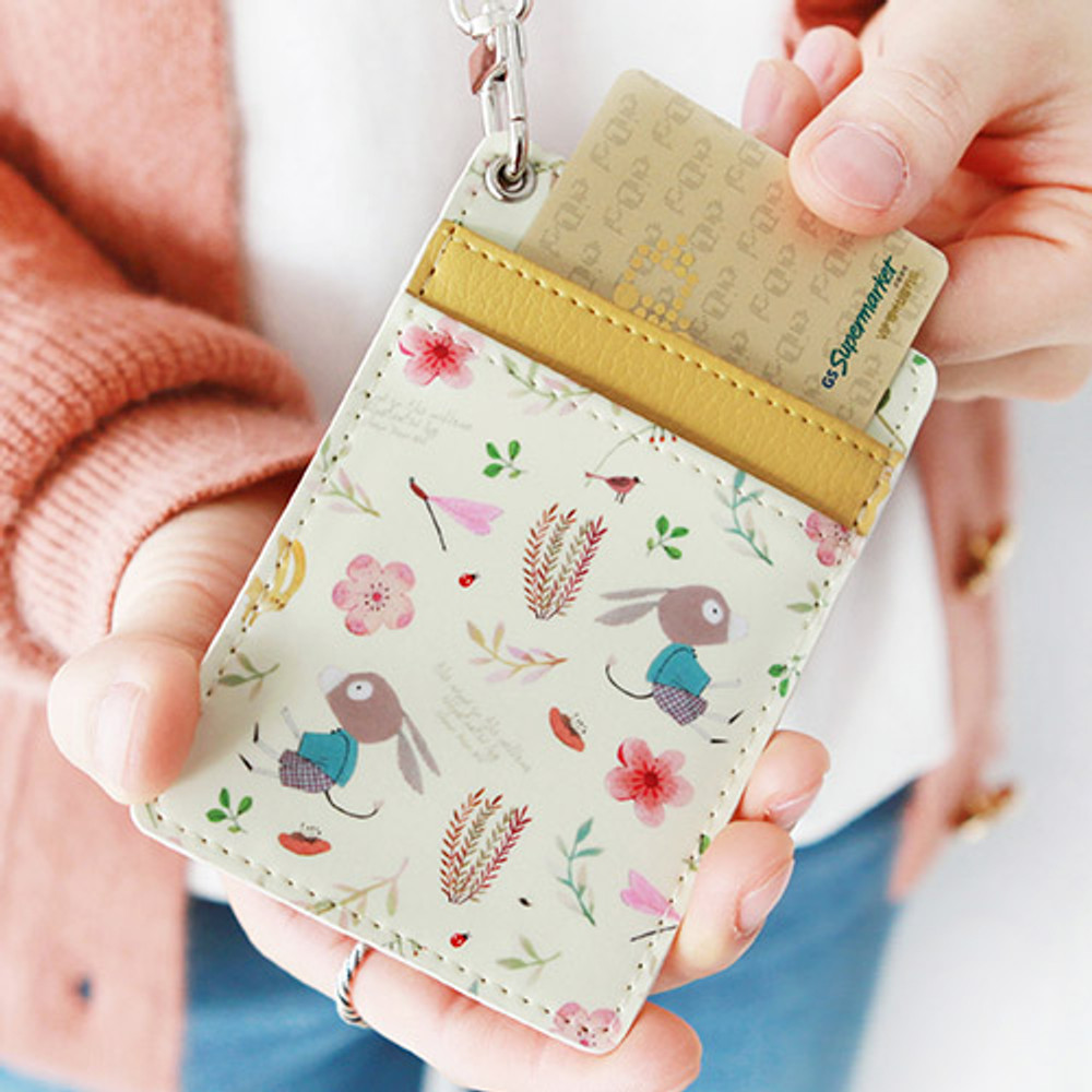 Yellow donkey - Willow story pattern flat card holder case ver4
