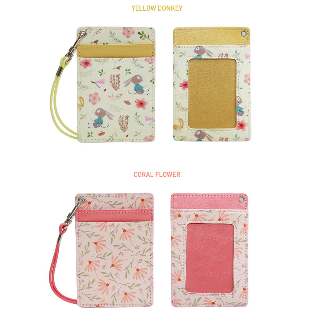 Option of Willow story pattern flat card holder case ver4
