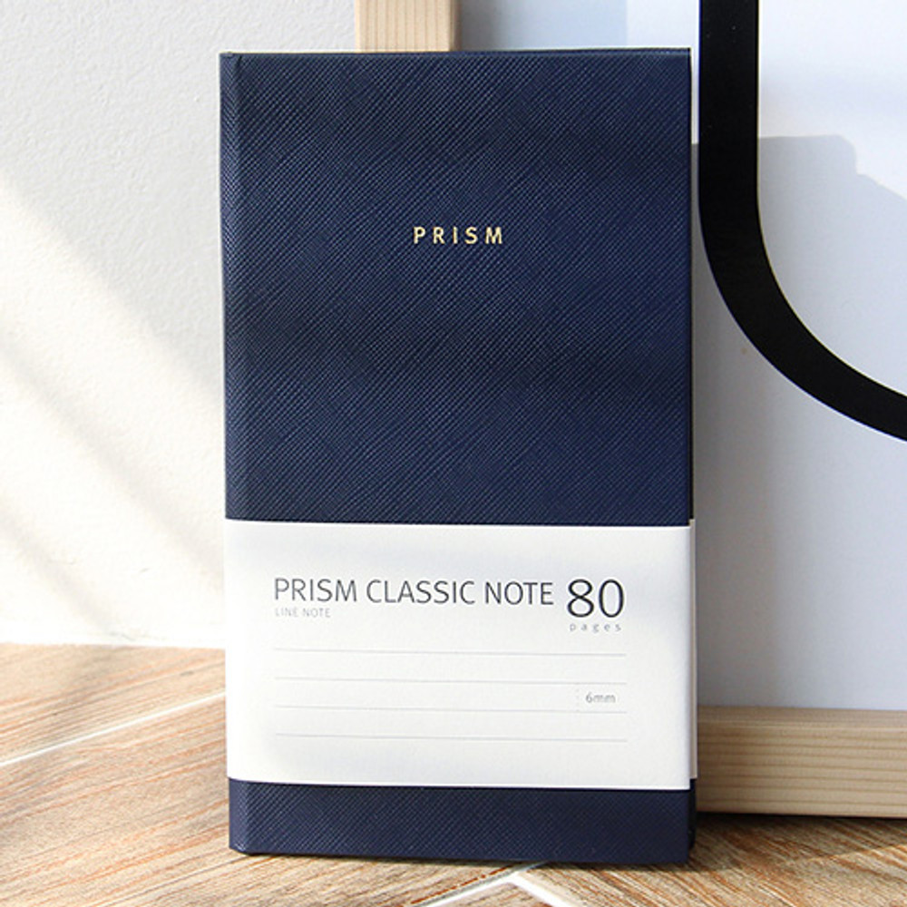 Navy - Prism classic 80 pages lined grid notebook