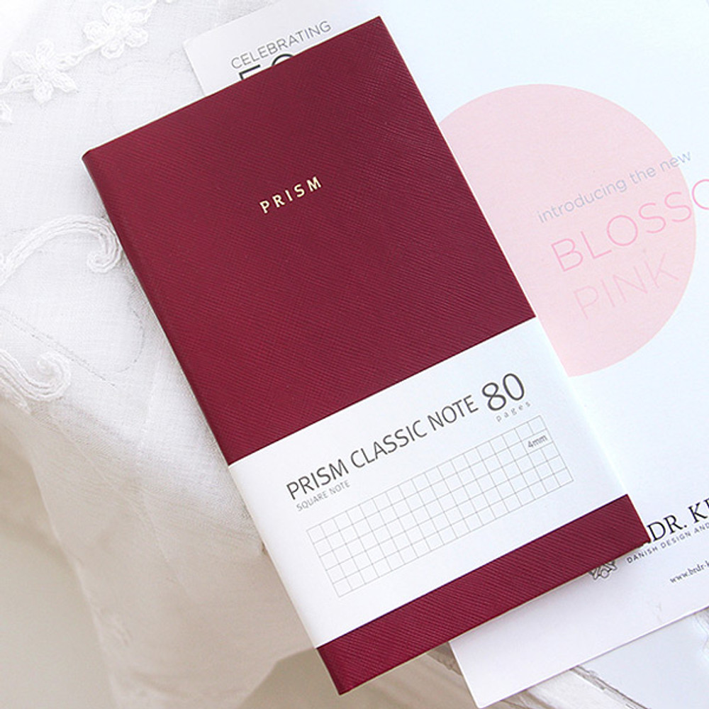 Wine - Prism classic 80 pages lined grid notebook