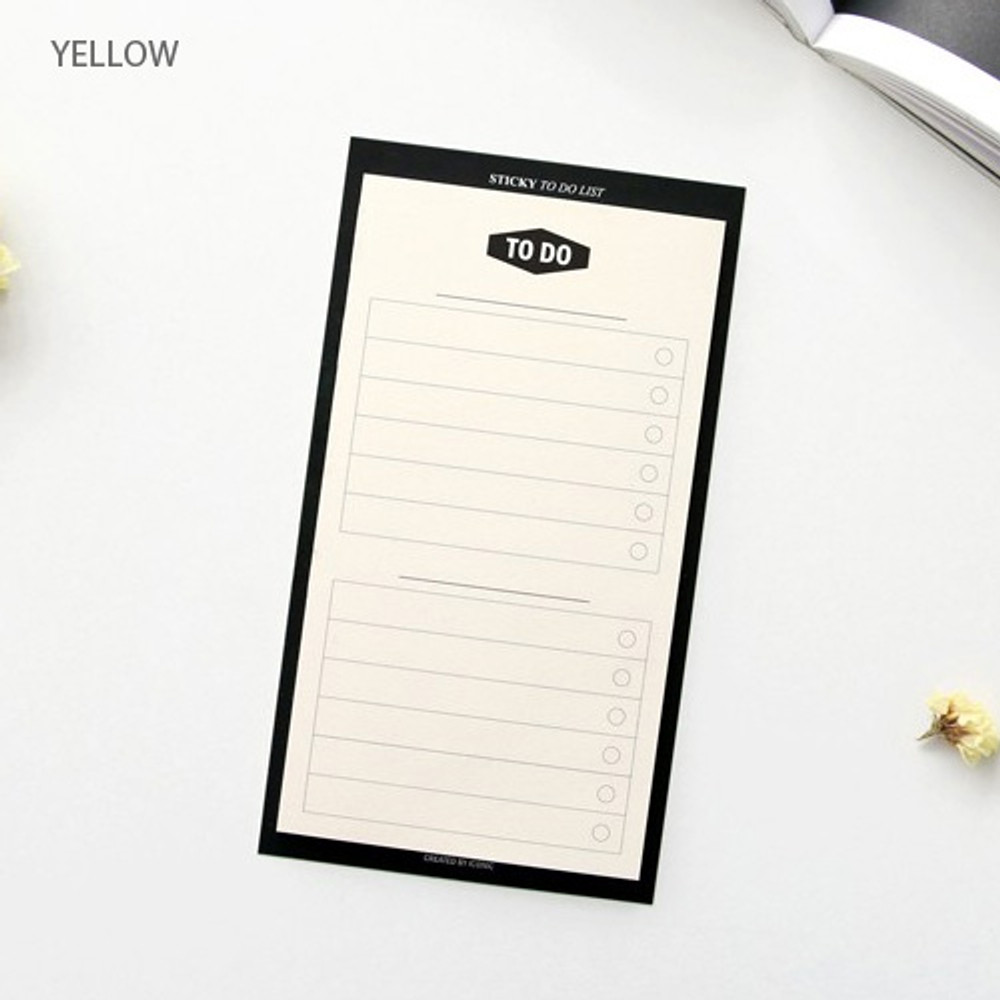 Yellow - Simple to do list sticky notepad