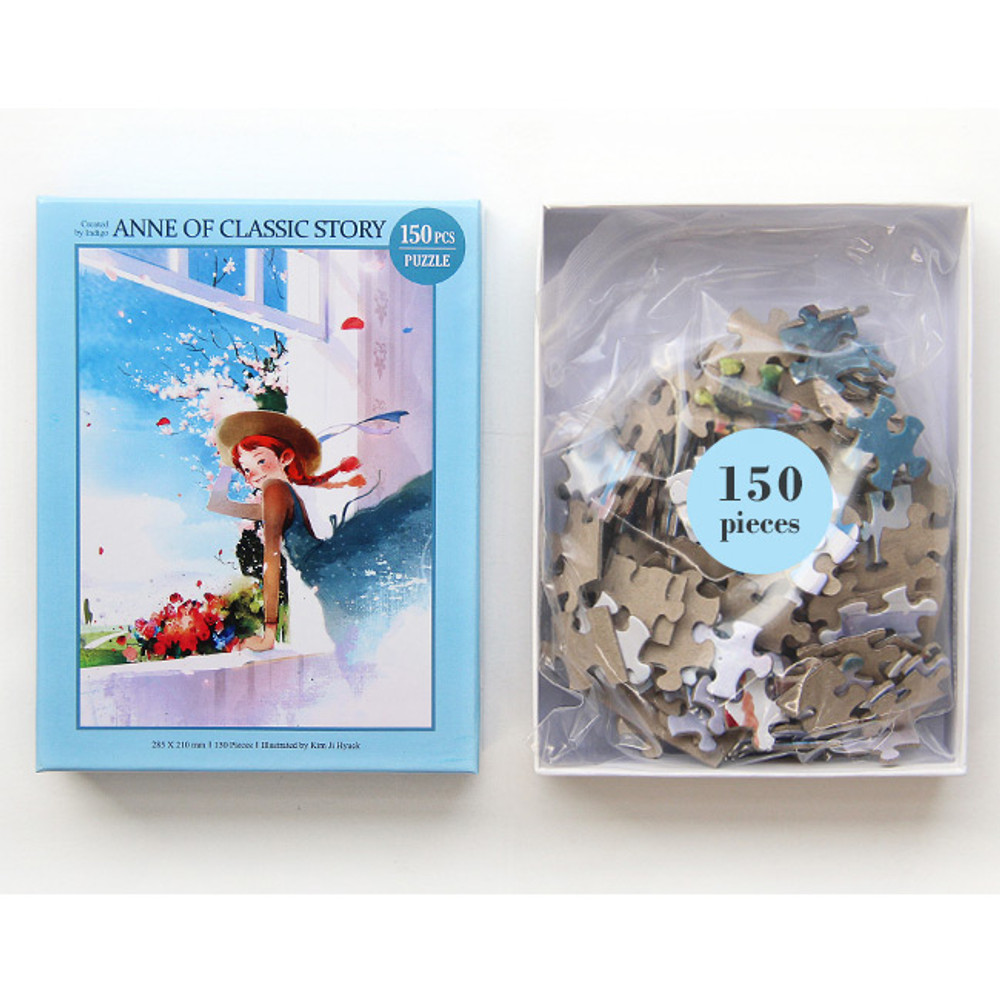 Package -150 piece jigsaw puzzle - Anne of classic story - Blue