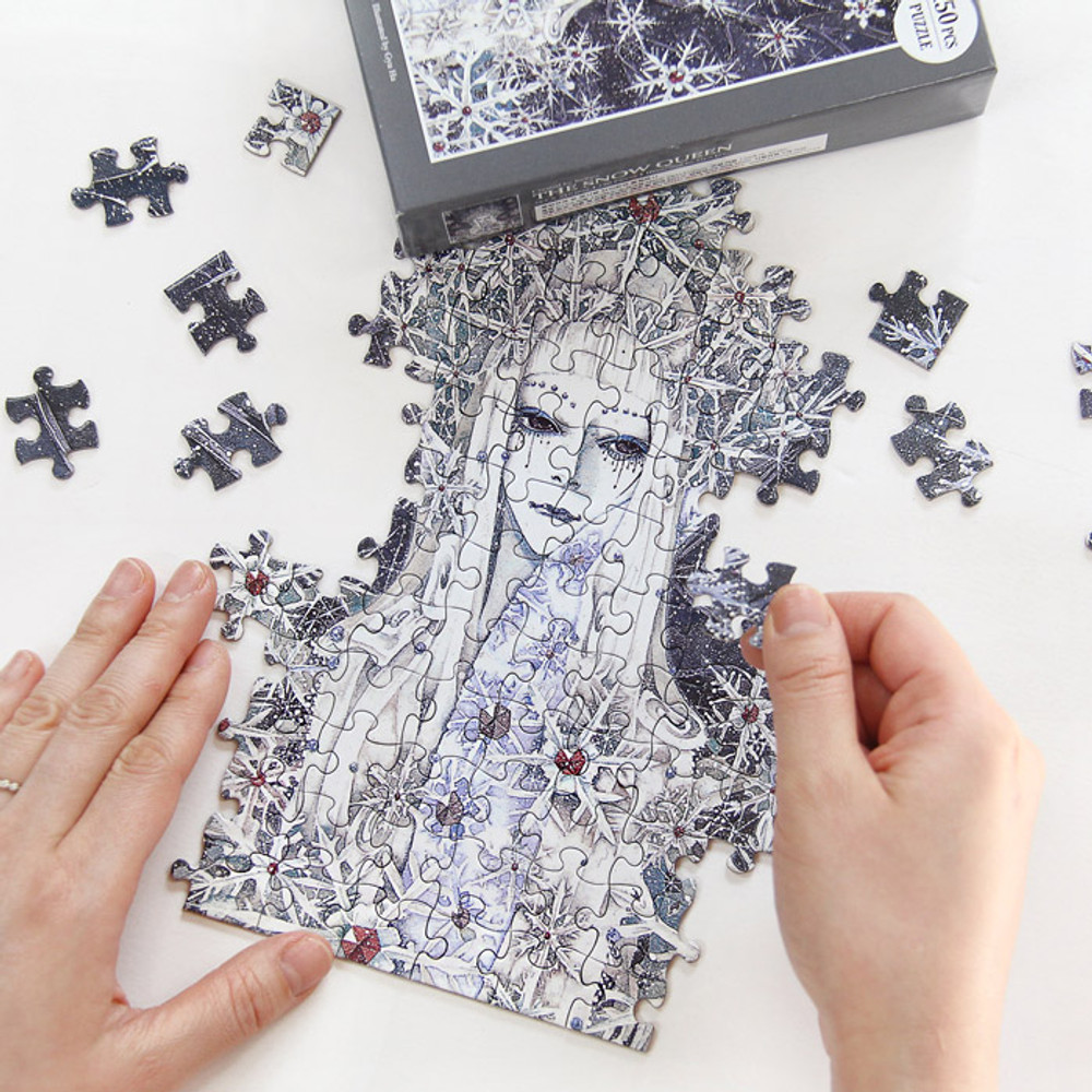 Fairy tale illustration 150 piece jigsaw puzzle - The snow queen
