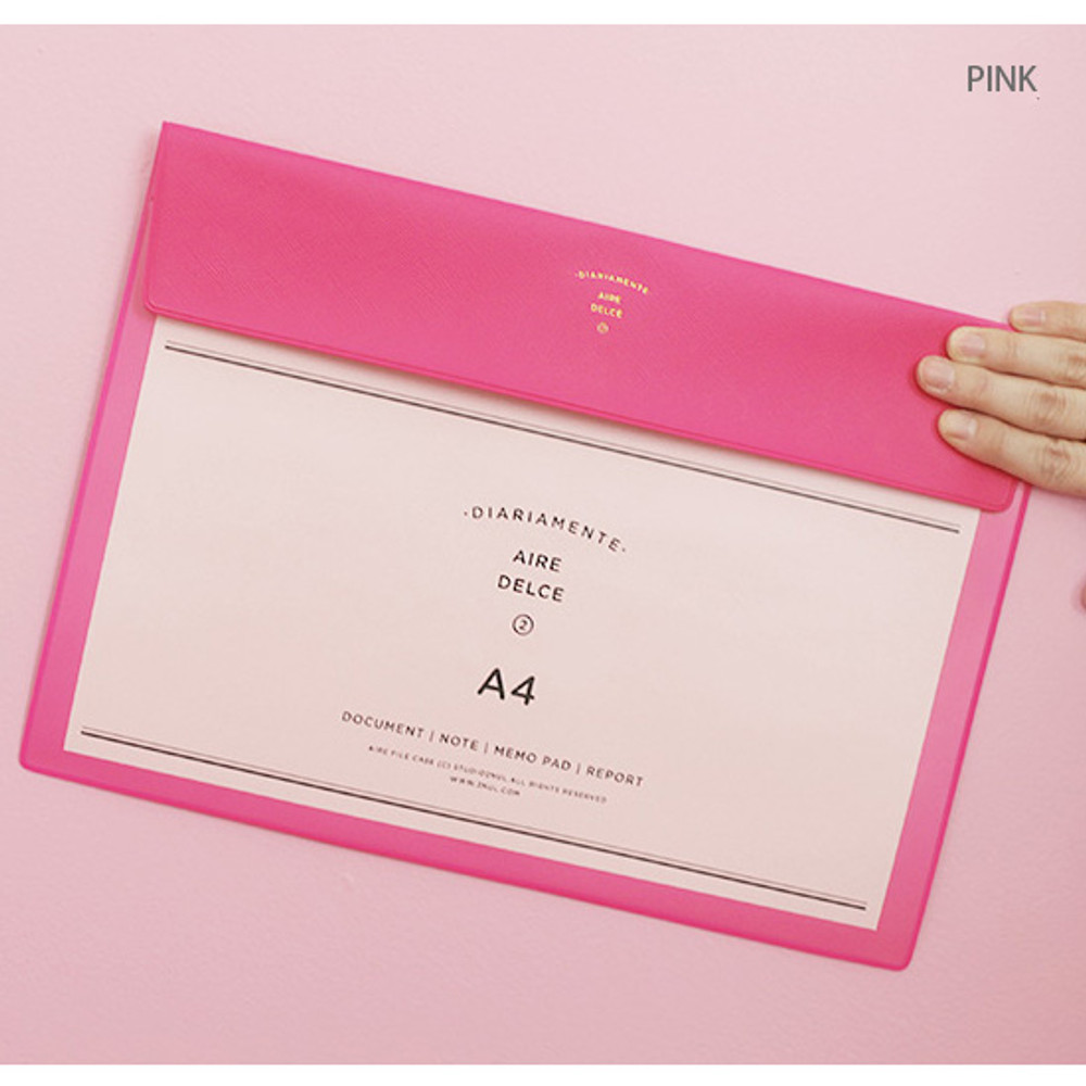 Pink - Aire A4 size file folder pouch