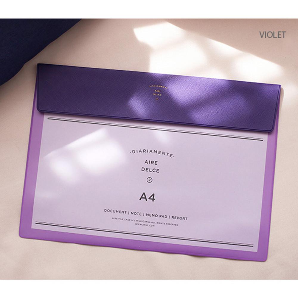 Violet - Aire A4 size file folder pouch