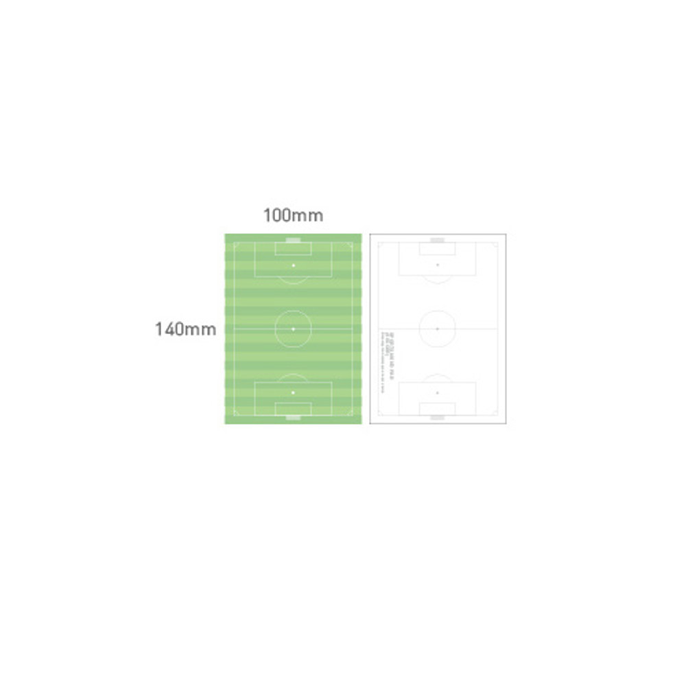 Size of Sports memo pad - Soccer