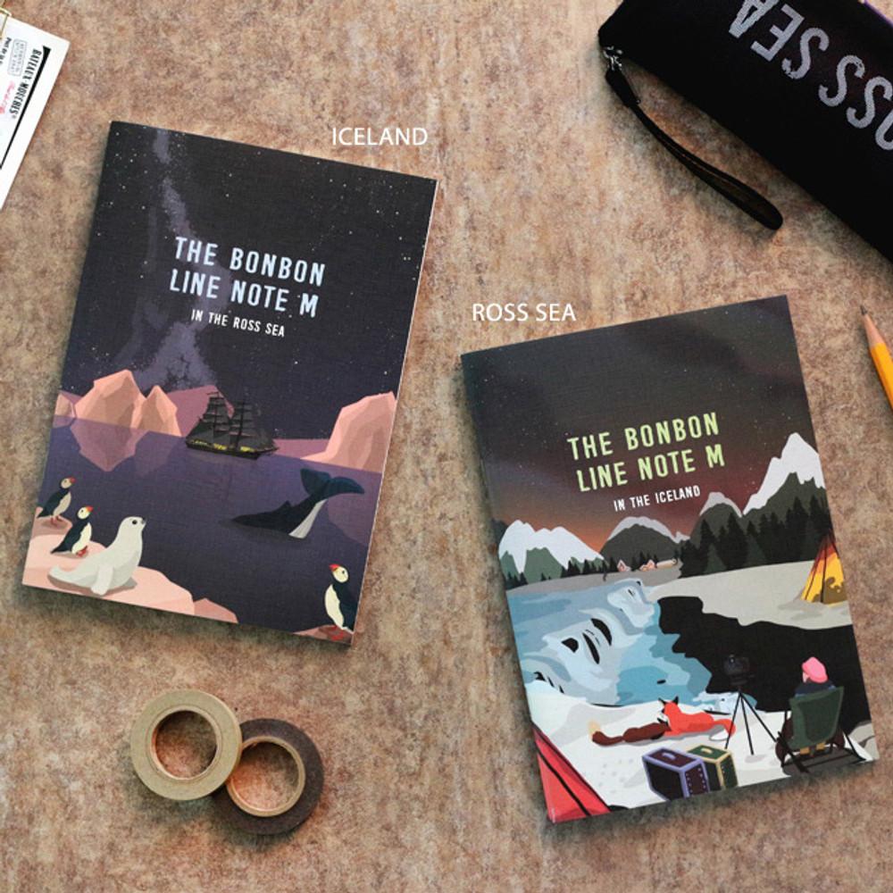 Iceland / Rose sea - Bon Bon lined notebook
