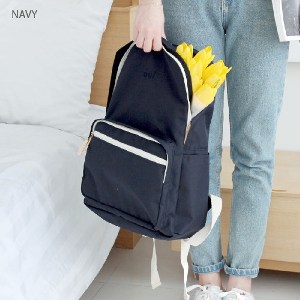 Navy - Around'D mais oui backpack