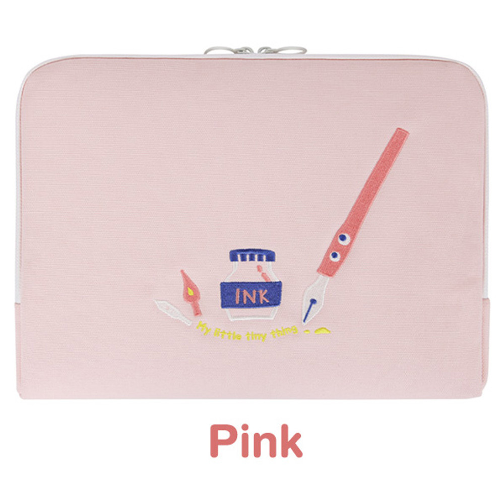 Pink - My little tiny thing 13 inches laptop pouch case
