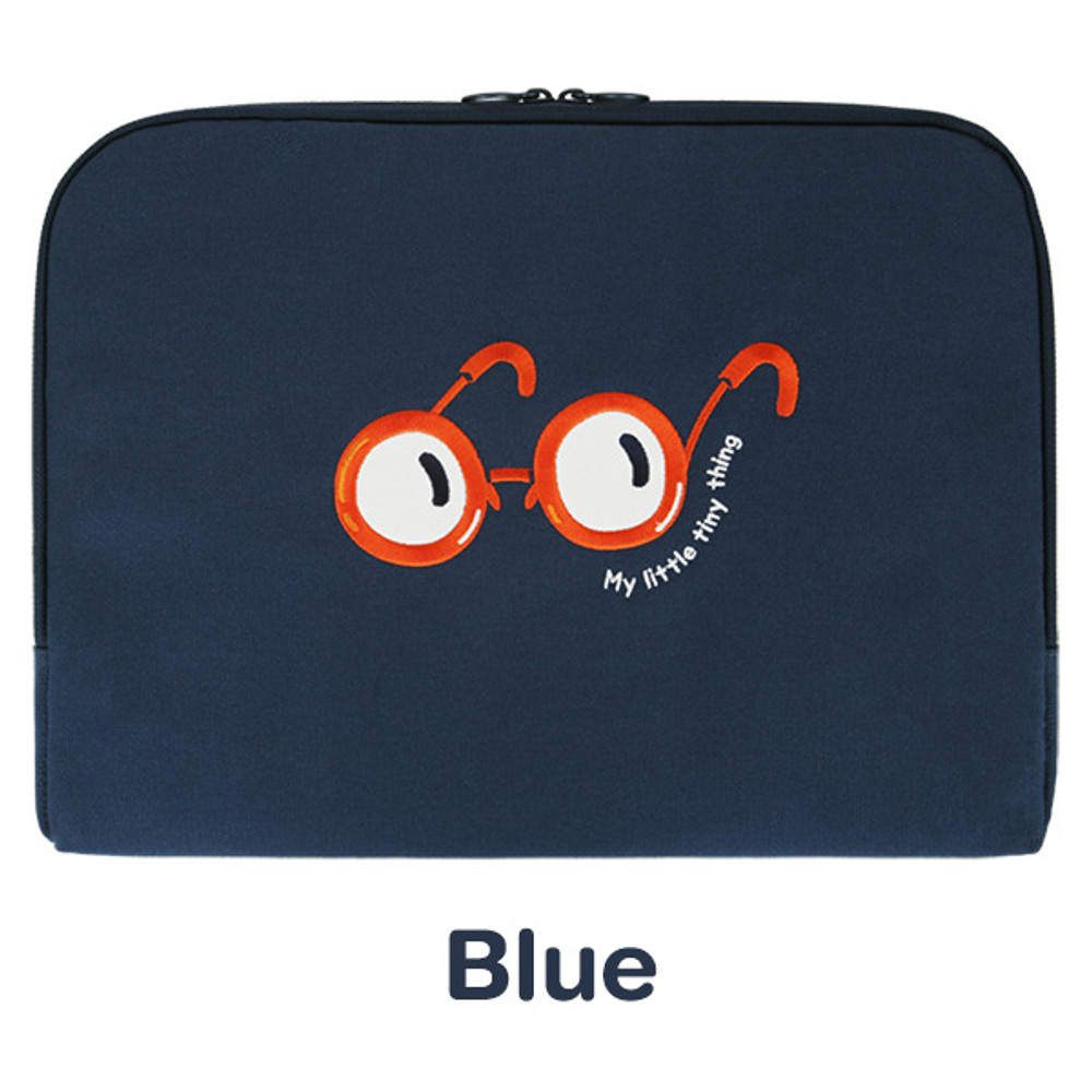 Blue - My little tiny thing 15 inches laptop pouch case
