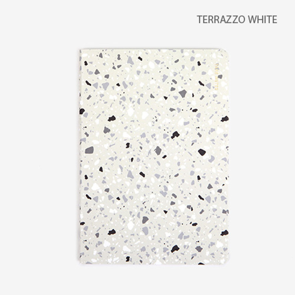 Terrazzo white - Draw your life take notes plain notebook