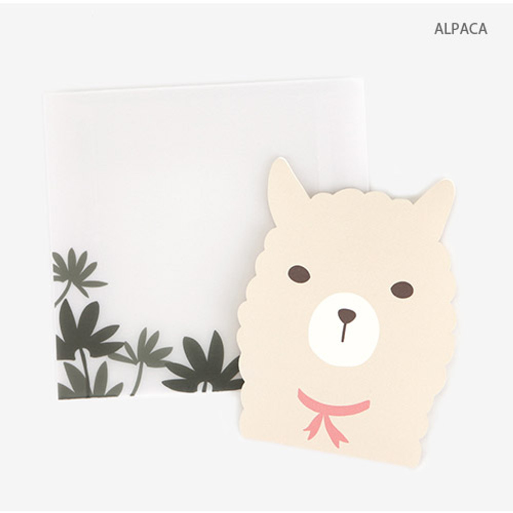 Alpaca - Present your heart animal letter paper and envelope set