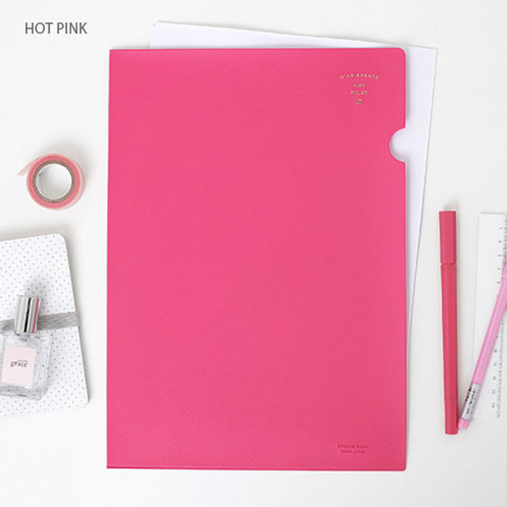 Hot pink - Aire delce A4 size document file holder