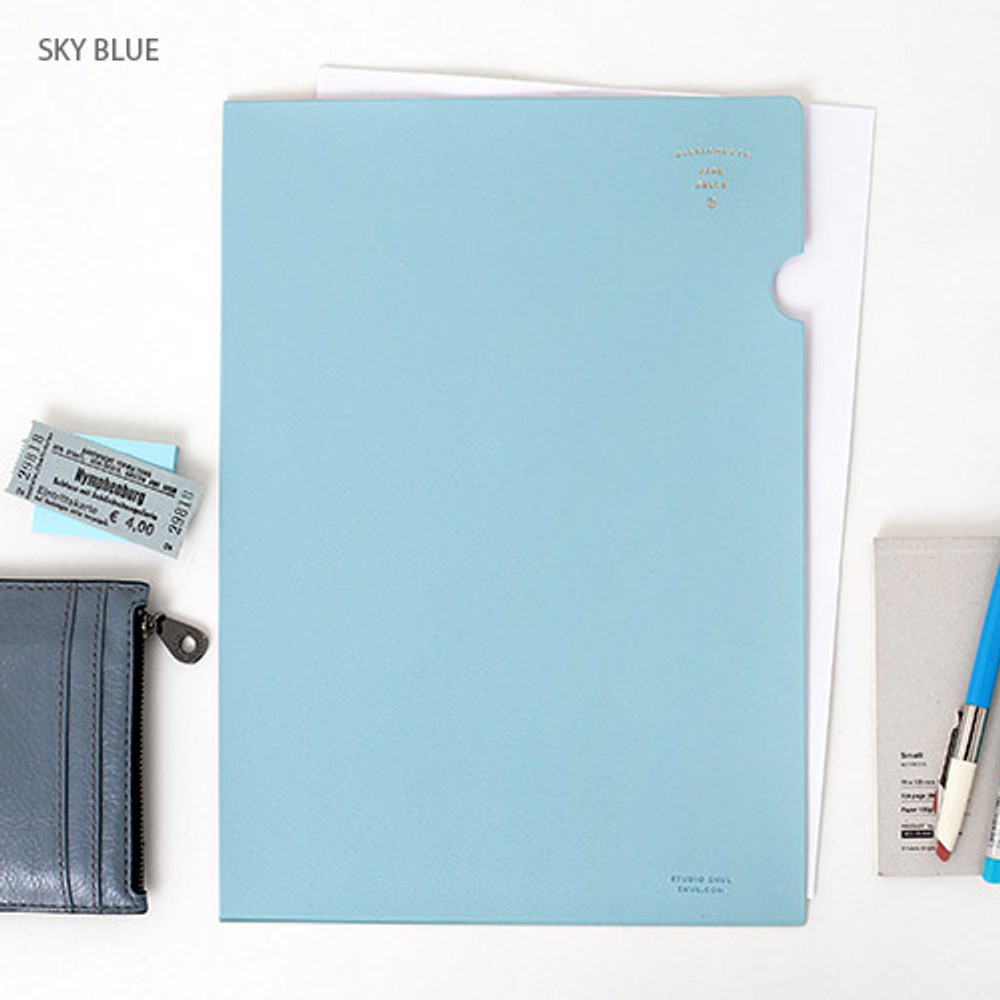 Sky blue - Aire delce A4 size document file holder