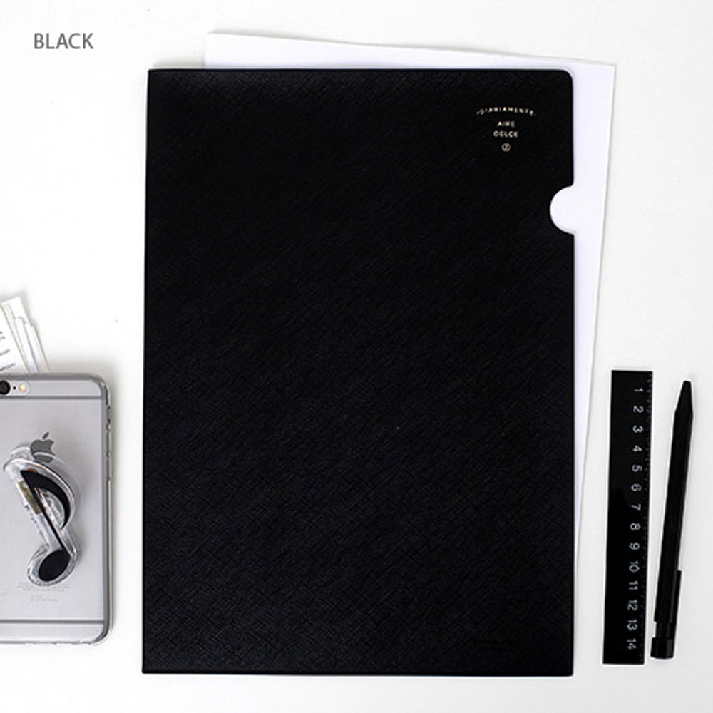Black - Aire delce A4 size document file holder