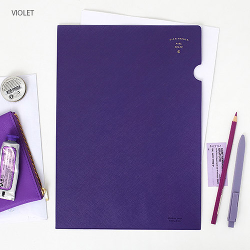 Violet - Aire delce A4 size document file holder
