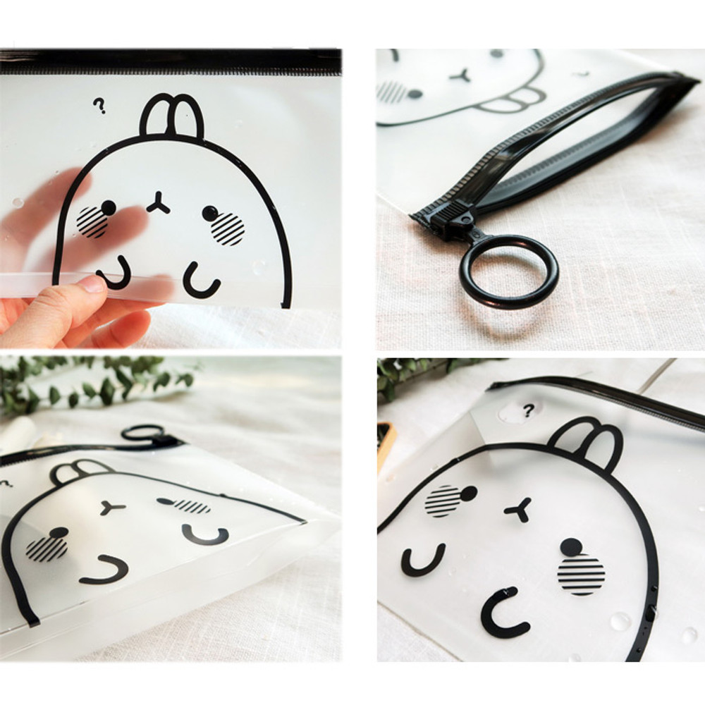 Molang zip lock small pouch ver.2
